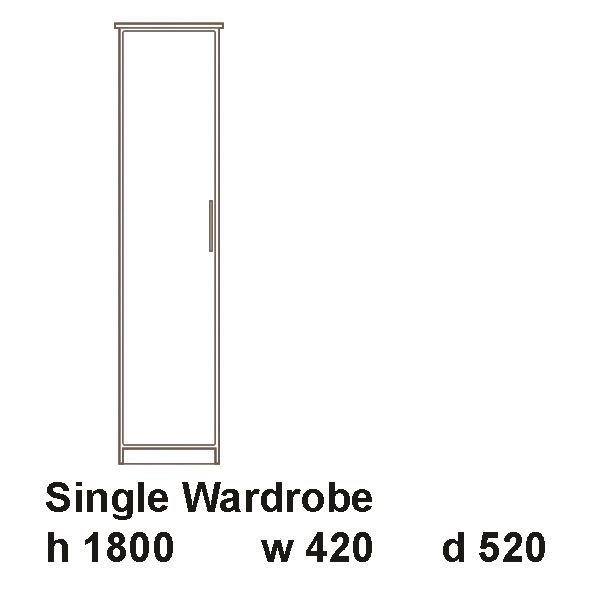 manhattan single wardrobe