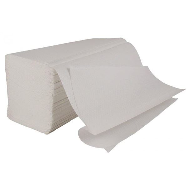 white interfold towels