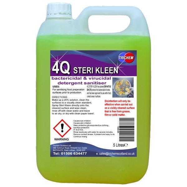 EN1276, EN14476 & EN13697 Approved Surface Sanitiser - Concentrate